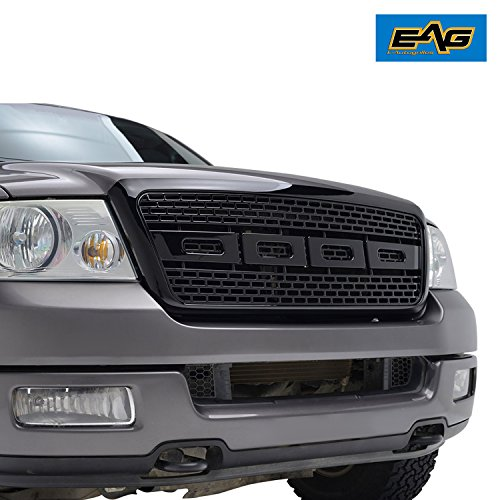 2004 F150 Grill (E-Autogrilles Glossy Black ABS Replacement Grille Grill with Shell for 04-08 Ford F-150)