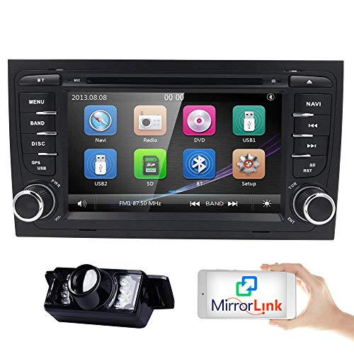 7 inch Touchscreen 2Din Car In Dash Stereo Radio for Audi A4 S4 RS4 Support...