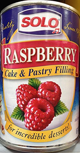 Solo Cake/Pastry Filling Raspberry, 12 oz X 2 cans (The Best Cake Filling)