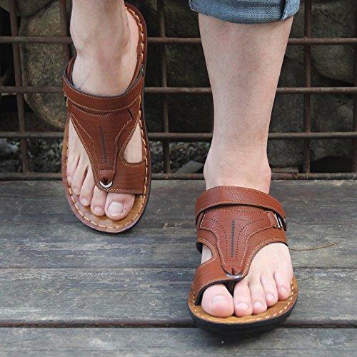 Verano 6882 Corea Brown Hombre Sandalias Sandalias Zapatos Y Dark sandals De qZxv7wX