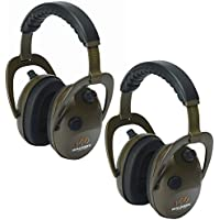 Walkers Game Ear Compact Noise Reducing & Isolating Alpha Power Muffs (2 Pack)