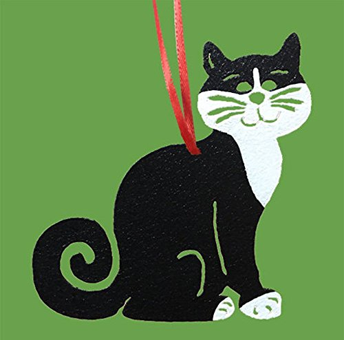 (Tuxedo Cat Ornament or Plant Stake)