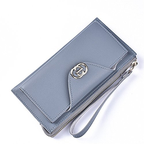 Große Kapazität multifunktionale Tasche mit Schnalle zip Schwarz Grau Blau crStP3t9