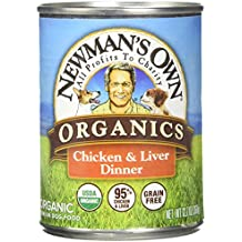 Newman's Own Organics Chicken and Liver Grain-Free Food for Dogs, 12.7-Ounce (Pack of 12)