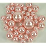 Dreampartycreation Elegant Vase Fillers 250 Assorted Oversized Pearls Beads Wholesale BULK BUY!!! (PINK)