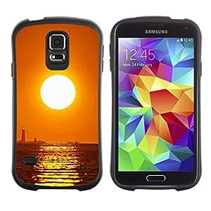 Paccase / Suave TPU GEL Caso Carcasa de Protección Funda para - Sunset Sea Beautiful Nature 16 - Samsung Galaxy S5 SM-G900