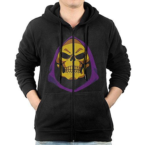 He Man Wacky Wobbler (Masters Of The Universe Skeletor Face He-Man Men Full Zip Hoodie Kangaroo)
