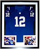 Andrew Luck Signed Large Nike Colts Jersey - Authenticated by JSA COA - Custom Framed & 2 8x10 Photo 34x42