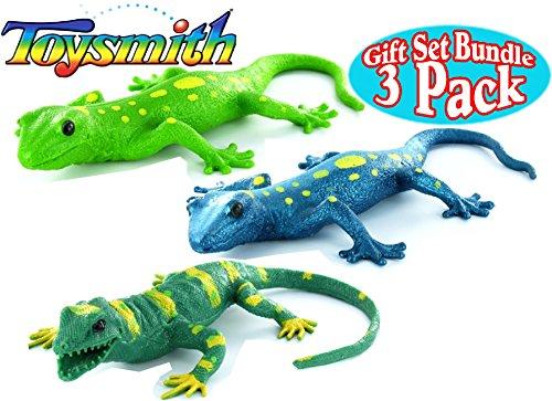 shimals Light Green, Dark Green & Blue Complete Gift Set Bundle - 3 Pack (Squishy Lizard)