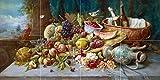 Large Still Life with Fruit by Hans Zatzka Tile Mural Kitchen Bathroom Wall Backsplash Behind Stove Range Sink Splashback 4x2 6'' Ceramic, Glossy