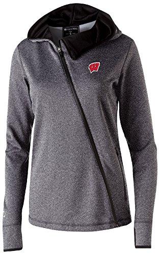 Wisconsin Badgers Fleece - Ouray Sportswear NCAA Wisconsin Badgers Women's Artillery Angled Jacket, Medium, Athletic Heather