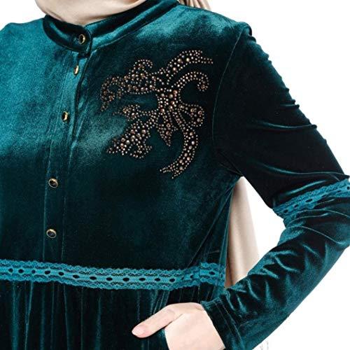 Islamico Oriente Marca Abbigliamento Caftano Abiti Plus Mode Lungo Musulmano Di Medio Elegante Mini Gr Abito Islamici 80wOPkn