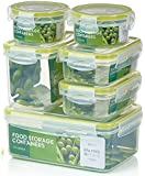 Zoë&Mii Premium 14 Pieces Smart Lock Lid Plastic Food Containers, 21 Chicken Recipes(Ebook), Lunch Boxes,Clip Lid,Tupperwear,Best for all types of food storage.