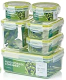 Zoë&Mii Premium Extra Strong,Airtight, 7 Piece Smart Lock Lid,Food Containers,100% Leak Proof,Lunch Boxes