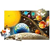 """Melissa & Doug Solar System Floor Puzzle (Floor Puzzles, Easy-Clean Surface, 48 Pieces, 36"""" L x 24"""" W, Great Gift for Girls and Boys - Best for 3, 4, 5, and 6 Year Olds)"""