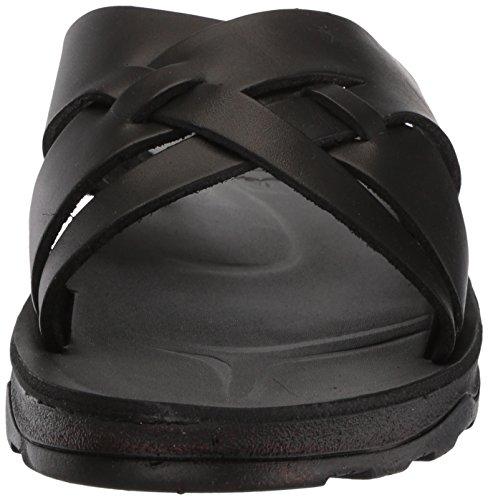 Jerusalem Sandaler Mens Jesse Formade Fotbädden Slide Sandal Svart