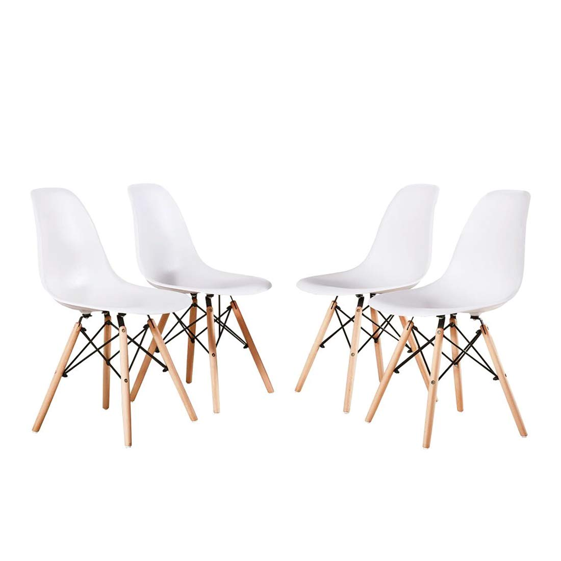 Stupendous Alovhad Dining Chairs Set Of 4 Modern Kitchen Furniture Side White Chairs Mid Century Dinning Room Home Furniture Plastic Wooden Legs Waiting Room Ibusinesslaw Wood Chair Design Ideas Ibusinesslaworg