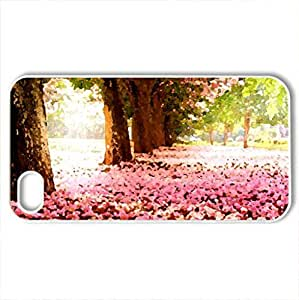 SAKURA CARPET - Case Cover for iPhone 4 and 4s (Flowers Series, Watercolor style, White)
