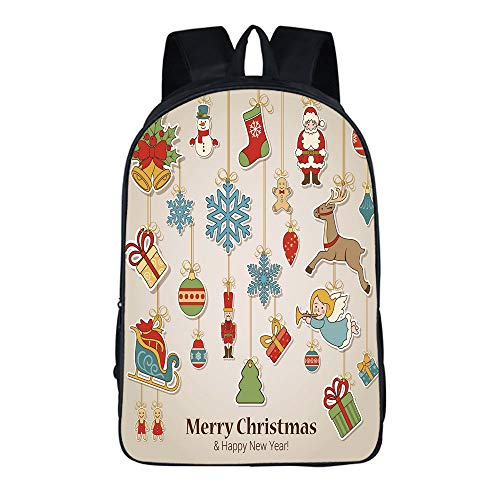 (YEHAITIAN Fashion Personality Practical Backpack Adult Student 16.5