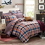Quilt cover 100% Cotton 4PC Well Designed Fashion Duvet Cover Sets, Queen/King Size , king