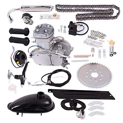 Goplus Bicycle Motor Kit 80cc 2-Stroke Bike Gasoline Motorized Gas Engine Bike Motor Kit - Engine Kits Conversion
