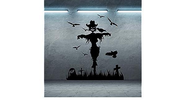 jiuyaomai Bruja pájaros Cementerio Pegatinas de Pared para Sala de ...