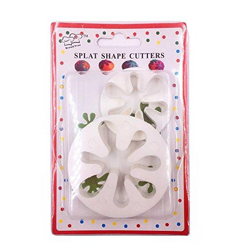 (Set of 2)Paint Splatter Cookie Cutter Set,Hand Love Sign Cookie Cuttert,CupCake Decorating Gumpaste Fondant Mould