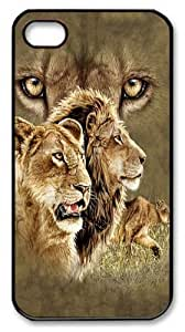 Find 10 Lions PC Case Cover for iPhone 4 and iPhone 4s Black