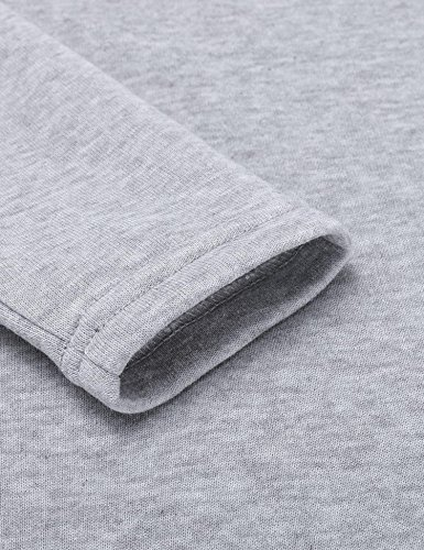 Poche Capuche Kangourou Printemps Longue Aimado Sweat Gris Casual shirt Manches À Pull Longue Pour Avec Robe Automne Femme xHHP7IwqU