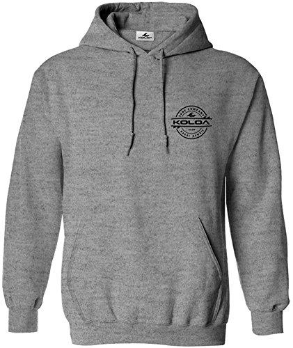 (Koloa Surf Thruster Logo Hoodie, Hooded Sweatshirt-M-AthHether/b)