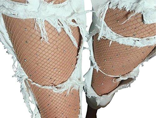 Sparkle Rhinestone Fishnet Stockings Pantyhose product image