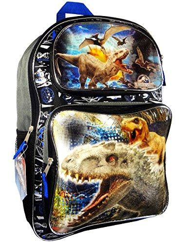 "Price comparison product image Jurassic World Dinosaurs Park 16"" Large Cargo Backpack School Bag"