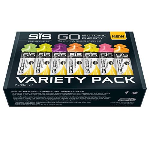 Science in Sport 60 ml Energy Gel Variety – Pack of 7