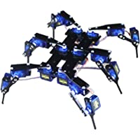 Flameer 6 Foot Remote Control Bionic Spider Robot Kit Six 6DOF Legs Alum Alloy Hexapod Spider Robot Frame Kit DIY for Arduino