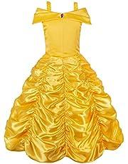 JerrisApparel Prinses Belle Kostuum Jurk Meisjes Verjaardag Partij Aankleden