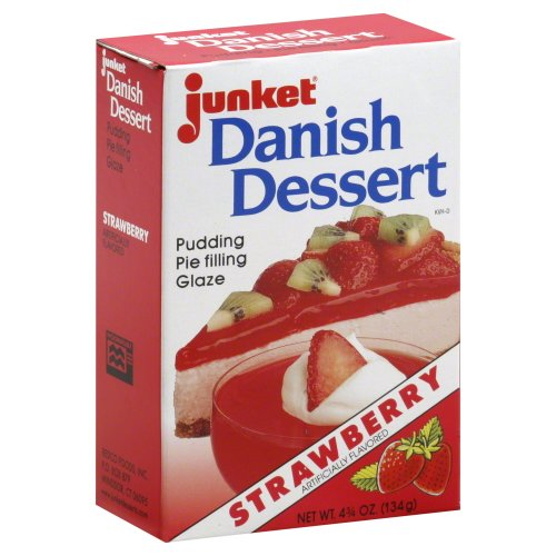 Junket Danish Dessert Strawberry 4.75 Oz (Pack of 3)