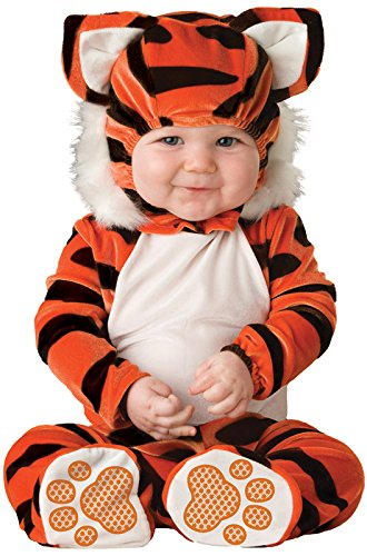 Lil Characters Unisex-baby Newborn Tiger Costume, Orange/Black/White, 6-12 months ()