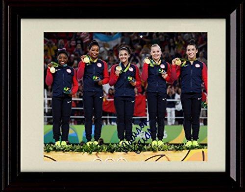 Framed Women's Gymnastics Autograph Replica Print - 2016 Olympics - Madison (Hernandez Autographs)