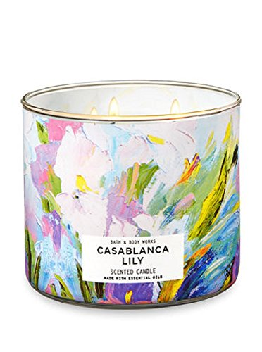 Bath & Body Works 3- Wick Scented Candle in Casablanca - Lily Candle
