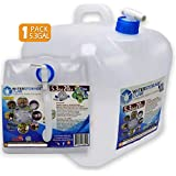 WaterStorageCube BPA Free Collapsible Water Container with Spigot, Camping Water Storage Carrier Jug for Outdoors Hiking Backpack & Survival Kit, Foldable Portable FDA Water Canteen 1.3/2.6/5.3 Gallon