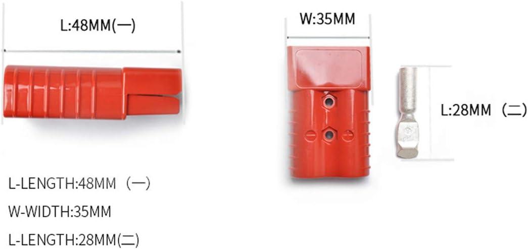 Prise de courant rapide /à 2 ports 350 A 600 V en cuivre plaqu/é argent pour camion Sightseeing Rouge
