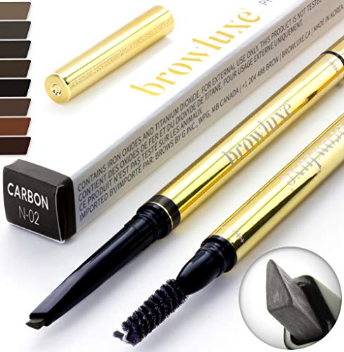 Eyebrow Pencil: Best Brow Pen Makeup Pencils & Spoolie Brush For ALL Eye Brows (CARBON) In 8 Hair COLOR of Waterproof Brown, Blonde, Black, Gray & Light Red Tint Kit. By Pro Microblading Women Stylist