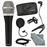 Beyerdynamic TG-V50D Dynamic Cardioid Microphone for Vocals and Accessory Bundle with Pop Filter, Cable, FiberTique cloth and More