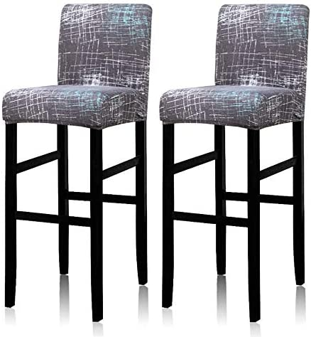 Deisy Dee Stretch Slipcovers Chair Cover for Counter Height Side Chairs Covers Stretch Protectors Pack of 2 C172 JJ C025