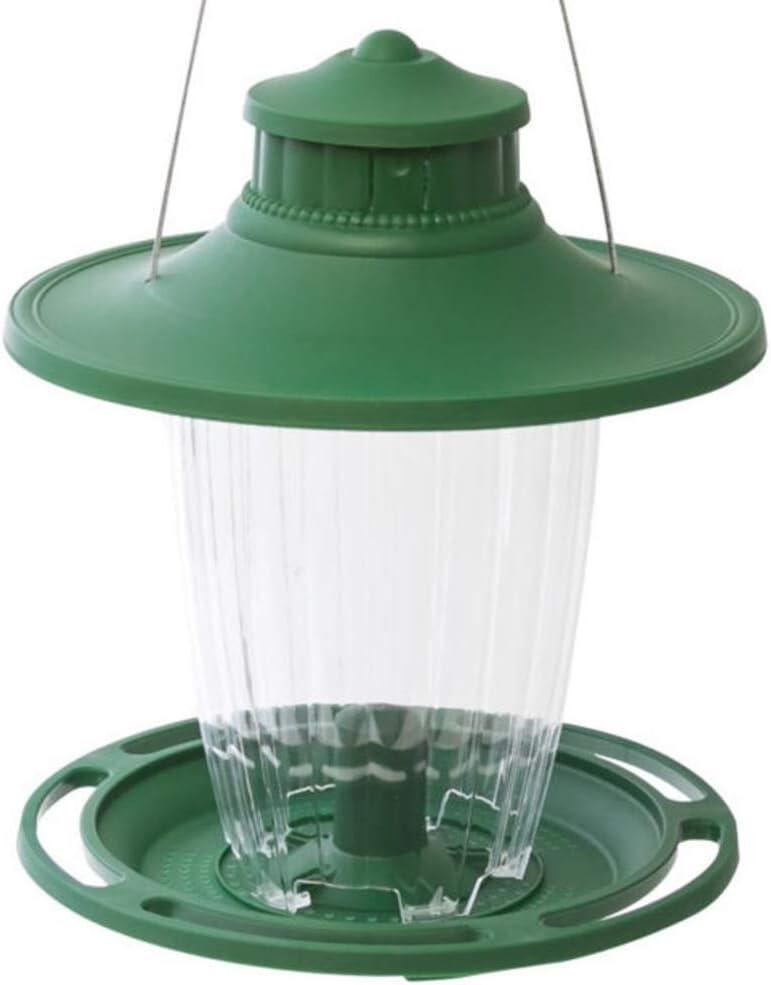 Stokes Select Bird Feeder, 5 Feeding Ports, 3.8 lb Bird Seed Capacity, Lantern-Style Wild Bird Feeder, Green - 108IN