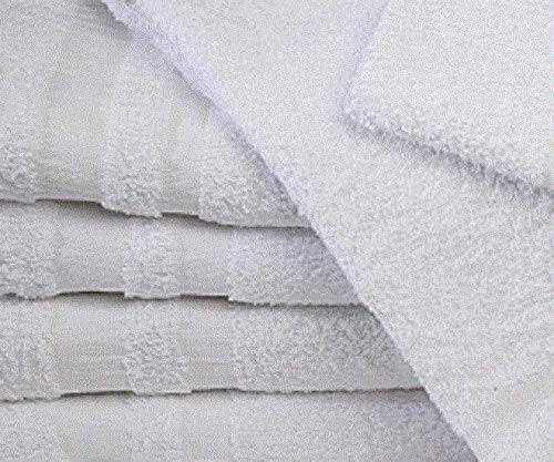 Salon Bath Towels Gym Tanning Best Deal B Grade 24 New White 22x44 Cotton #GG11