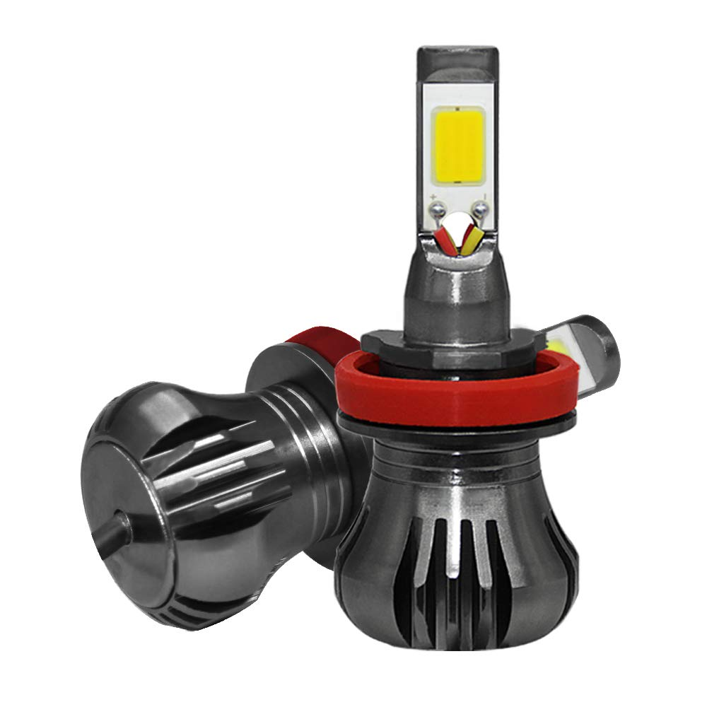 SWOO CAR Kit LED Feux Anti Brouillard P13W 6000K 60W 6000LM HB4 DRL Feu Diurne Ampoule Phare Avant 9-36V 6 CSP Led Chip Haute Luminosit/é BI-XENON Low Beam LED HEADLIGHT 2 Ans Garantie