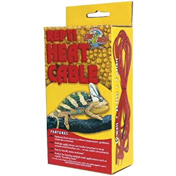 Amazon Com Zoo Med Reptile Heat Cable 50 Watts 23 Feet