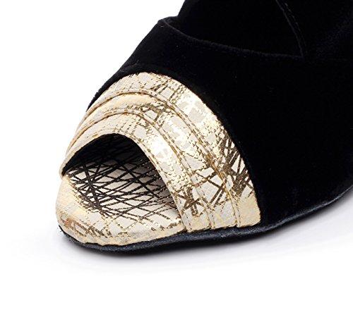 Latin De UK6 Our41 Modern Sandalias Zapatos Jazz Satin Altos Salsa EU40 Gold Tango JSHOE Samba heeled7 Mujer 5cm Chacha De Cristales 5 Shoes Tacones Baile Sparking 4qwB5