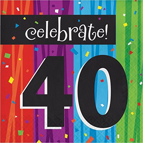 Milestone Celebrations 40th Birthday Napkins, 48 ct